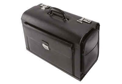 Alassio® Pilotenkoffer »Verona«, aus Leder mit Laptopfach