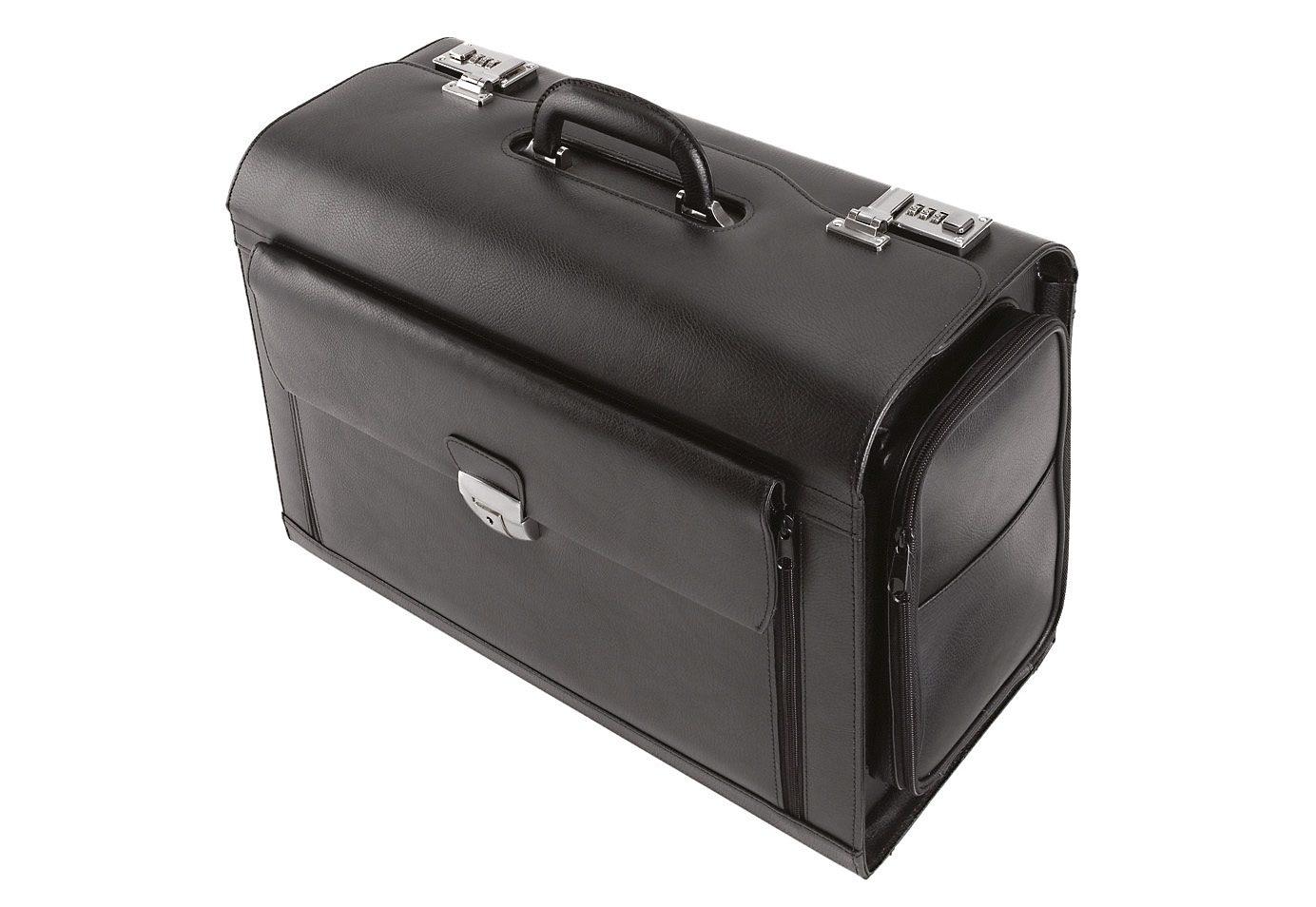 Alassio® Pilotenkoffer aus Leder mit Laptopfach, »Verona«