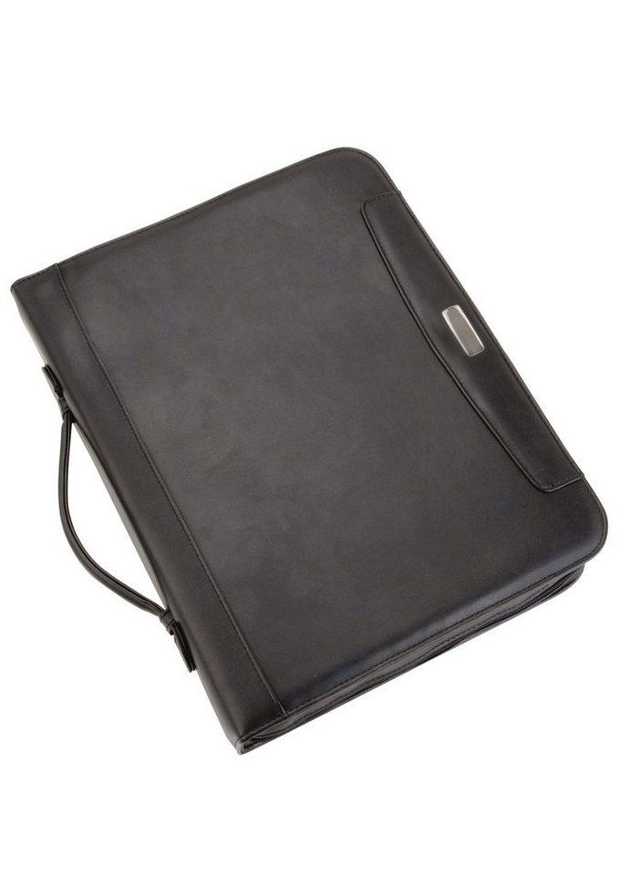 Alassio® Ringbuchmappe mit Taschenrechner A4, »Porto« in schwarz