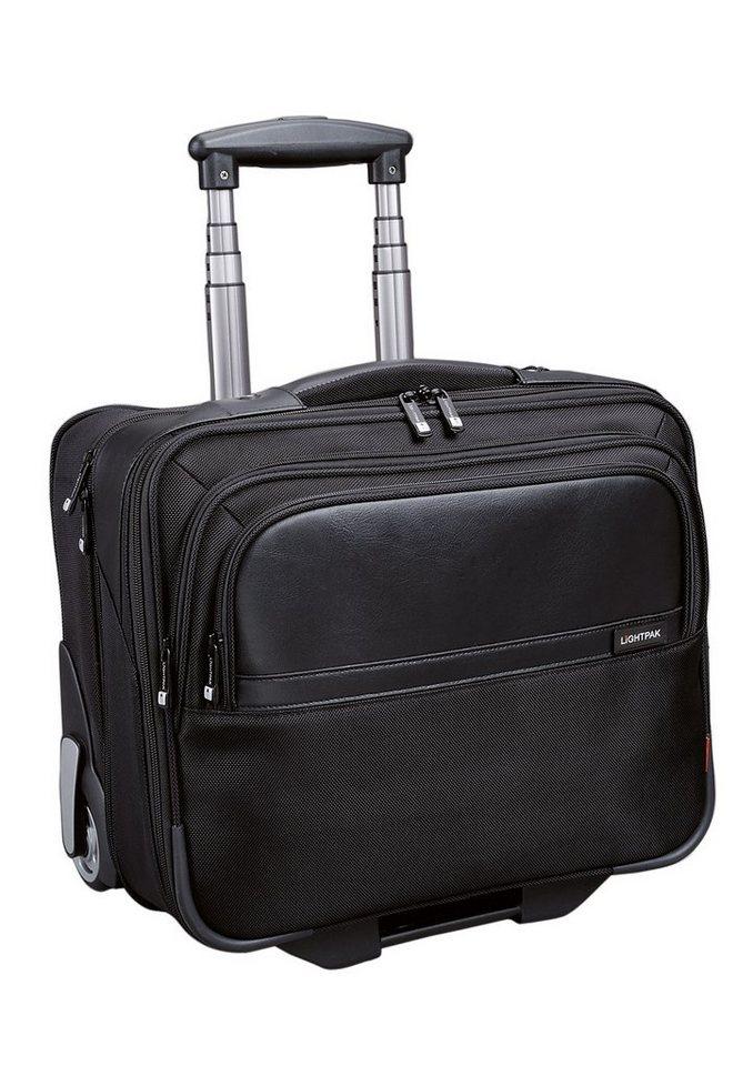 LIGHTPAK® Businesstrolley mit Rollen und Laptopfach, »Executive Line, Bravo I« in schwarz