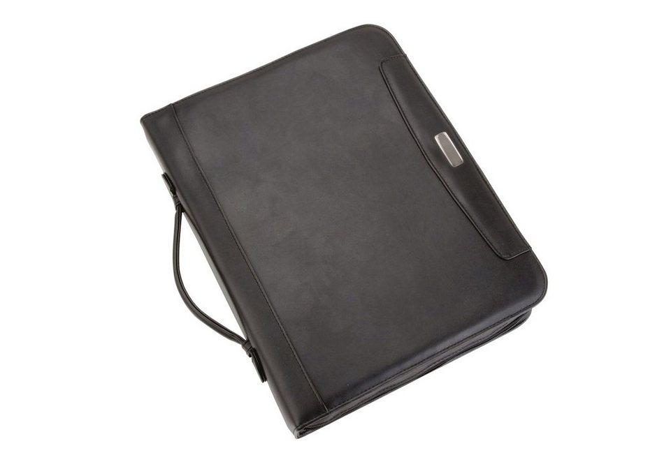 Alassio® Schreibmappe A4, »Mares« in schwarz