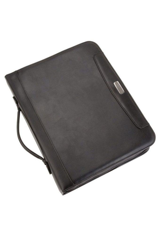 Alassio® Schreibmappe mit Taschenrechner A4, »Mares I« in schwarz