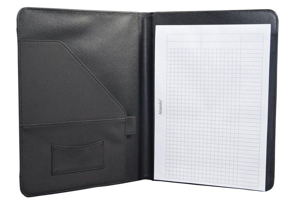 Alassio® Schreibmappe A4, »Messina« in schwarz