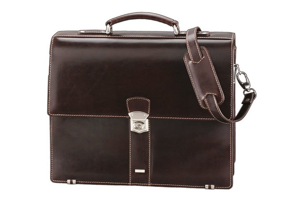 Alassio® Aktentasche aus Leder, »Monaco« in braun