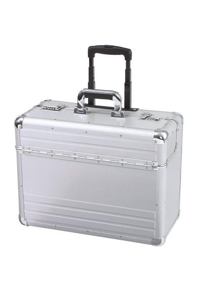 Alumaxx® Pilotenkoffer mit Teleskopgestänge, »Omega« in silberfarben
