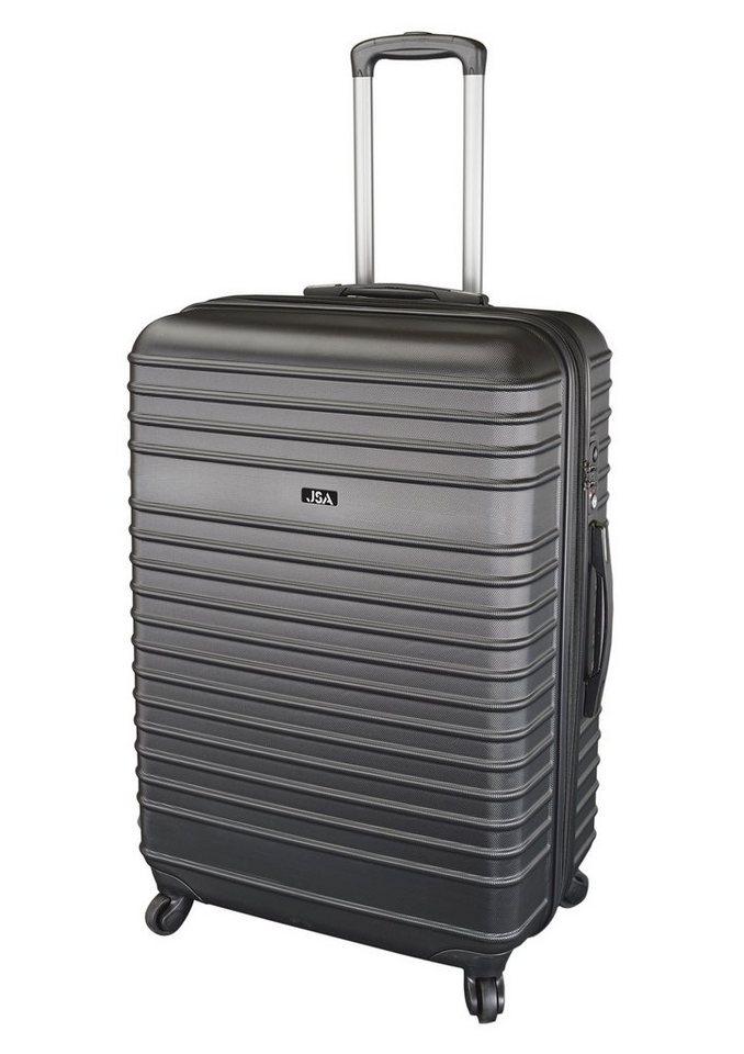 JSA® Hartschalentrolley mit TSA-Schloss und 4 Rollen in schwarz