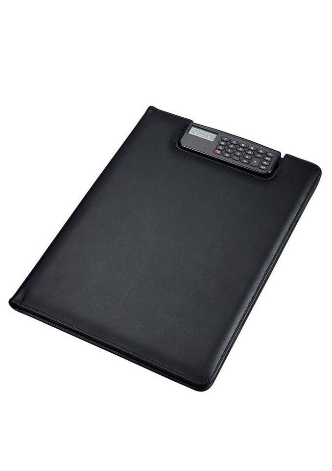 Alassio® Schreibmappe mit Taschenrechner A4, »Brescia« in blau-bedruck