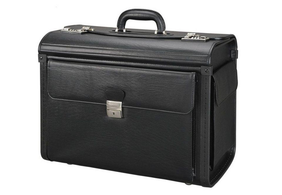 Alassio® Pilotenkoffer, »Vicenza« in schwarz