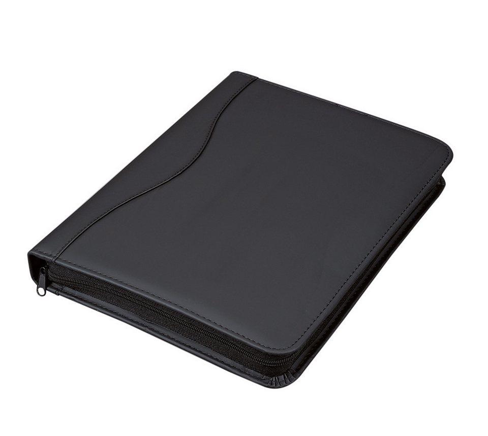 Alassio® Ringbuchmappe A4, »Rondo« in schwarz