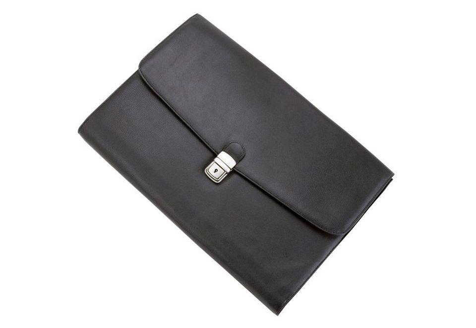 Alassio® Dokumententasche aus Leder, »Udine« in schwarz