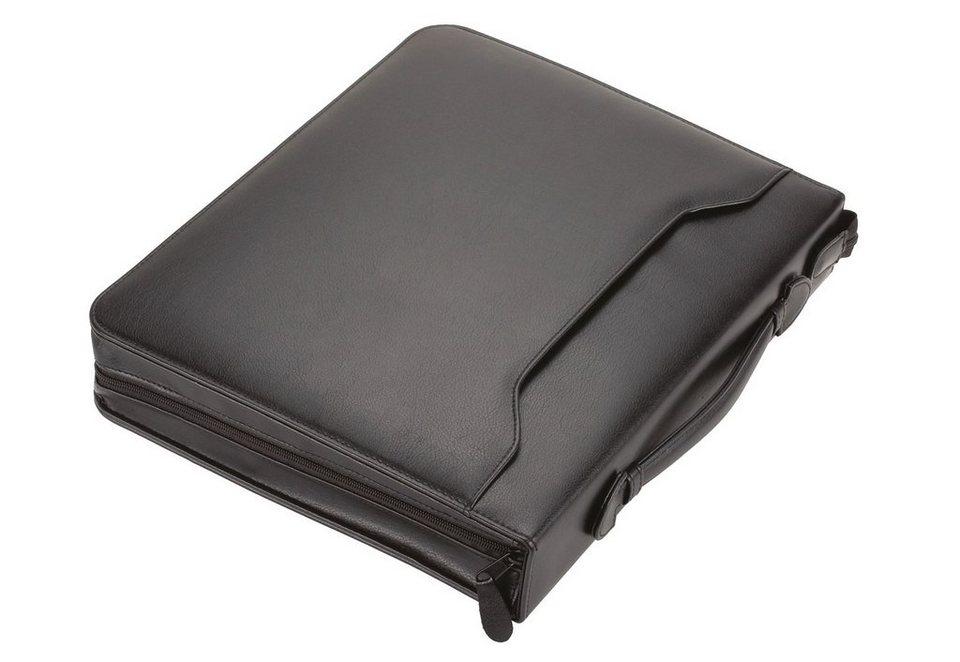 Alassio® Tagungsmappe aus Leder A4, »Arezzo I« in schwarz