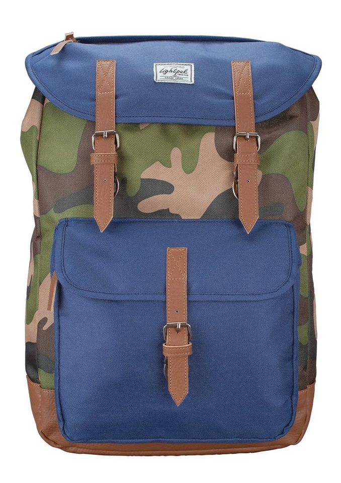 LIGHTPAK® Rucksack, »The Passanger, camouflage« in grün
