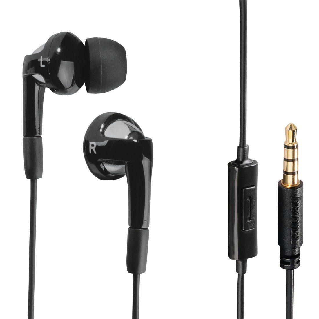 Hama In-Ear-Stereo-Ohrhörer Hook, Schwarz