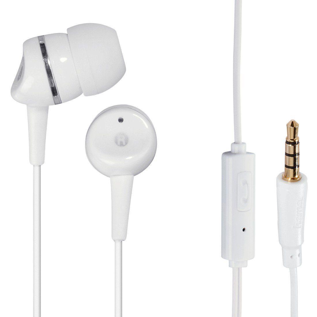 Hama In-Ear-Stereo-Ohrhörer Basic4Phone, Weiß