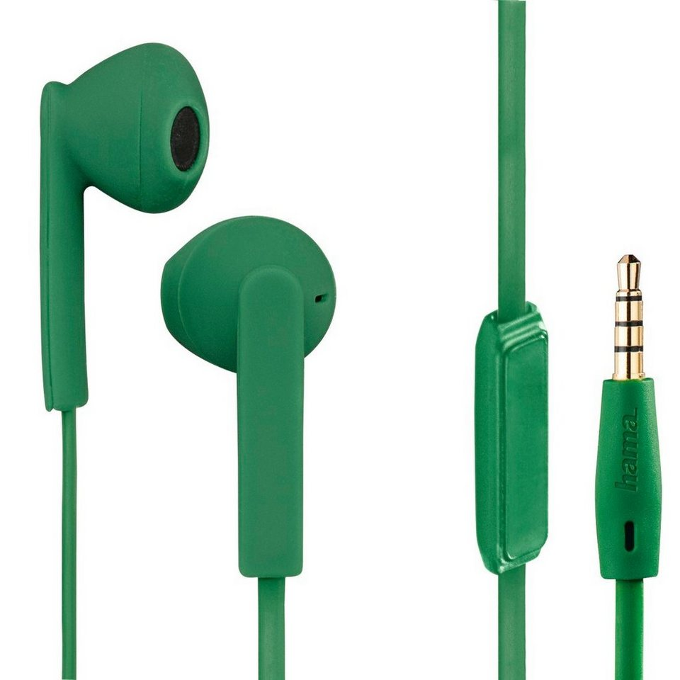 Hama Stereo-Ohrhörer Joy +, Grün in Grün