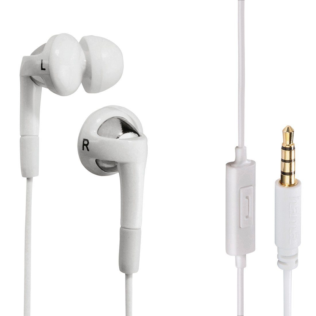 Hama In-Ear-Stereo-Ohrhörer Hook, Weiß