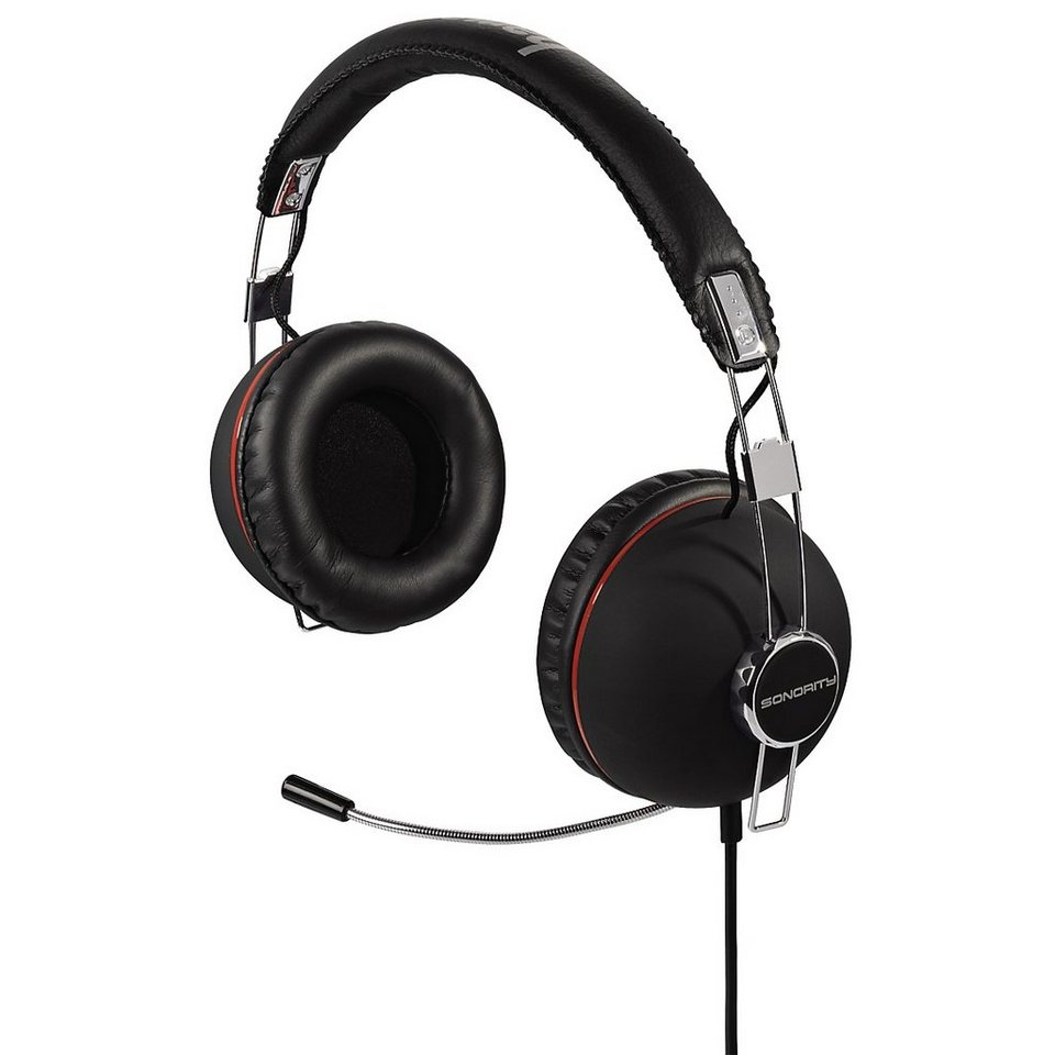 Hama PC-Headset Sonority, Schwarz in Schwarz