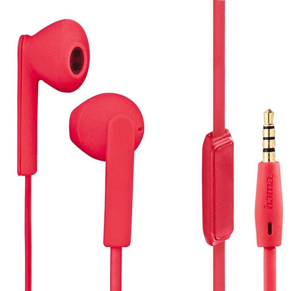 Hama Stereo-Ohrhörer Joy +, Rot in Rot