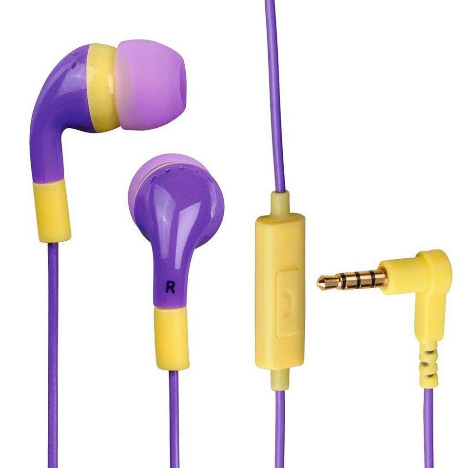 Hama In-Ear-Stereo-Ohrhörer Flip Flop, Orchid/Sand in Grün
