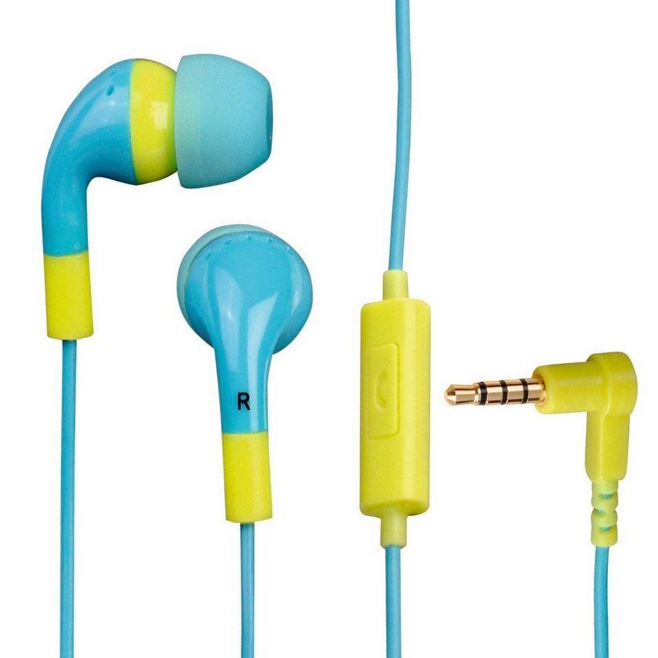 Hama In-Ear-Stereo-Ohrhörer Flip Flop, Ocean/Lemon in Blau