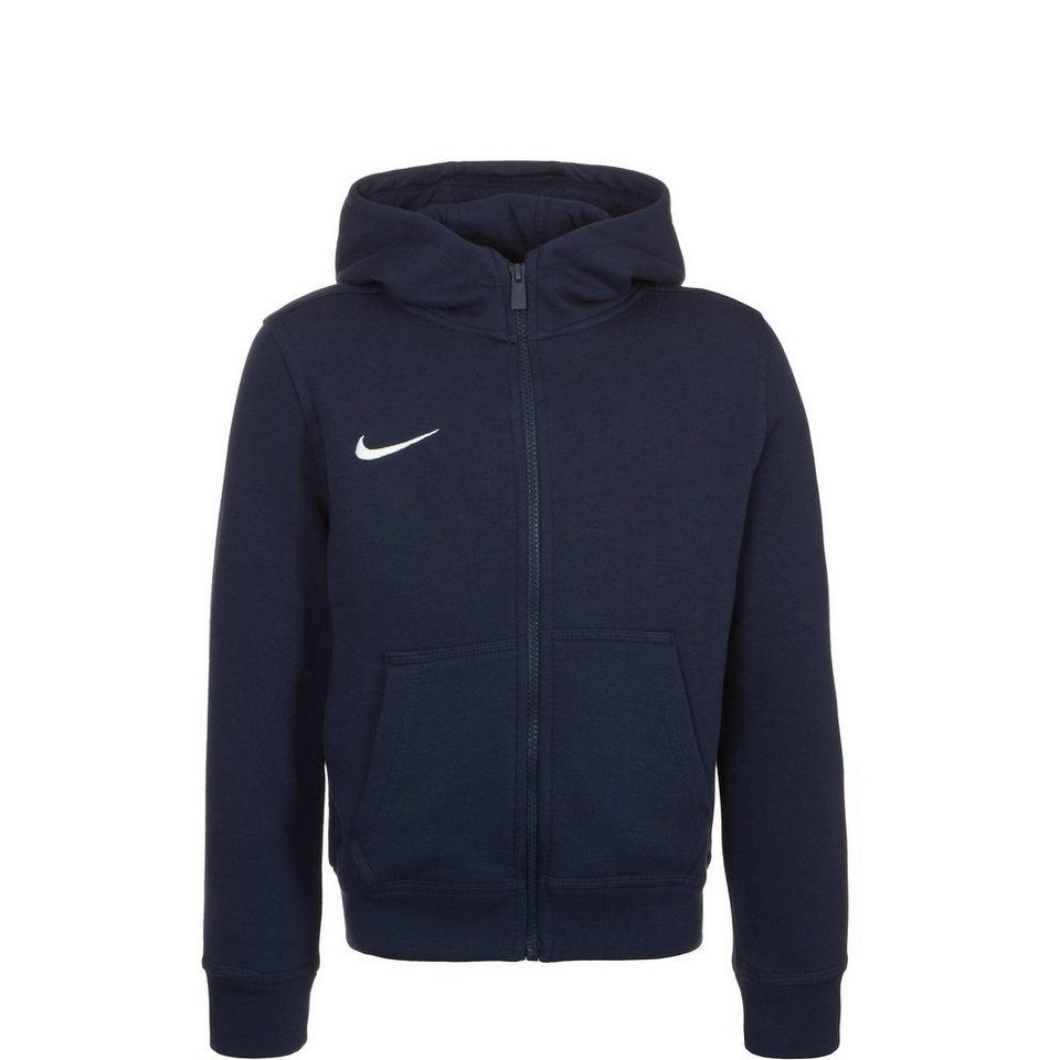 NIKE Team Club Trainingskapuzenjacke Kinder in dunkelblau / weiß