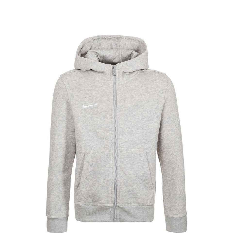 NIKE Team Club Trainingskapuzenjacke Kinder in grau / weiß