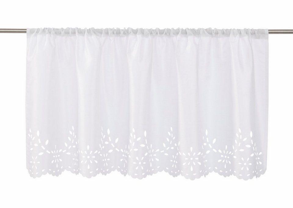 Scheibengardine, Home affaire Collection, »Neapel« (1 Stück) in weiß