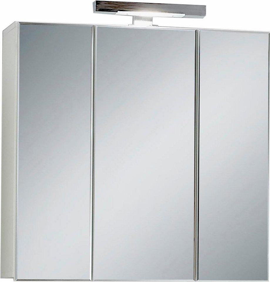 FMD Spiegelschrank »Zamora« mit Beleuchtung in Weiß