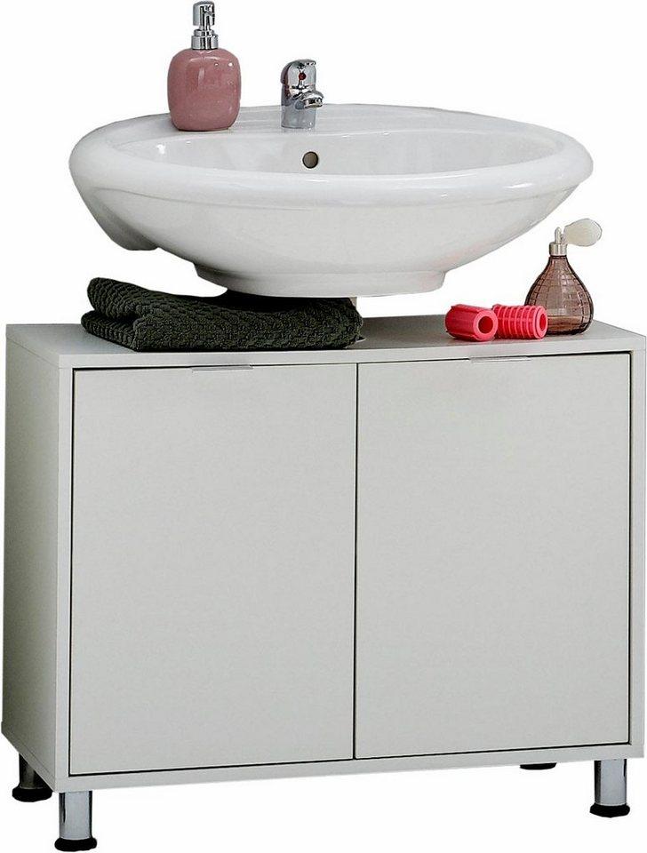 FMD Waschbeckenunterschrank »Zamora« in Weiß
