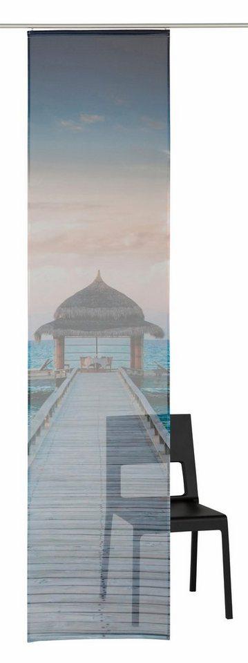Schiebegardine, my home, »Maldives« (1 Stück mit Zubehör) in maldives