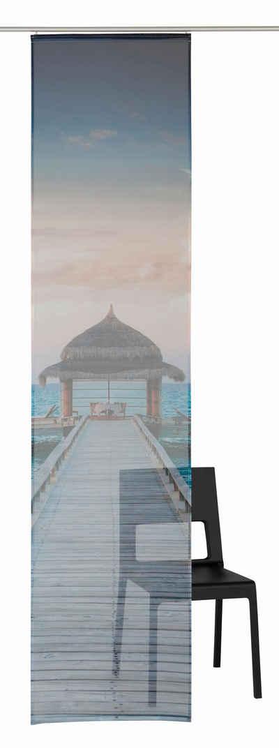 Schiebegardine, my home, »Maldives«, mit Klettschiene (1 Stück Zubehör) Sale Angebote