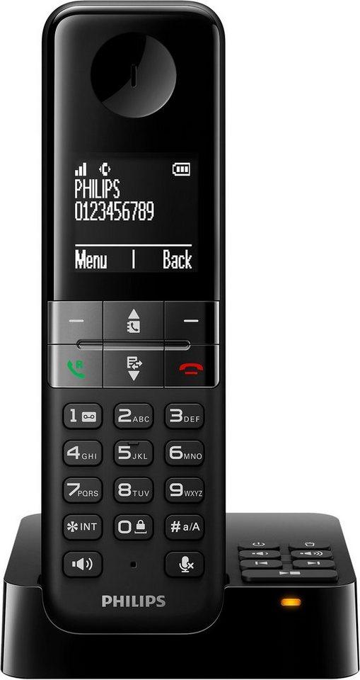 Philips D4551 Schnurloses DECT Telefon mit AB in schwarz