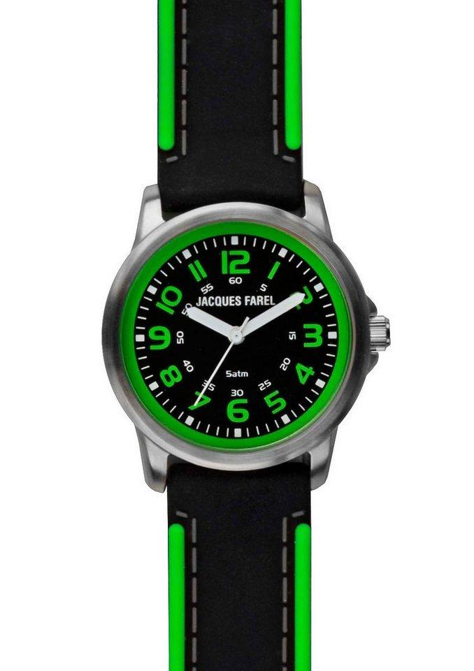 "Jacques Farel, Armbanduhr, ""SST 111"" in schwarz-grün"