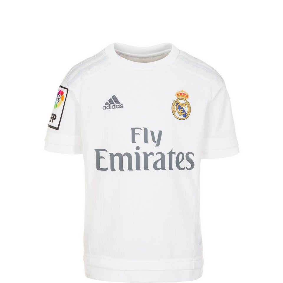 adidas Performance Real Madrid Trikot Home 2015/2016 Kinder in weiß / hellgrau