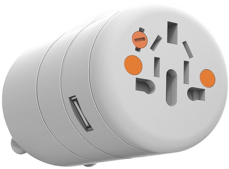 Xtorm Ladegerät »World Travel Charger (Universal)« in Weiß-Orange