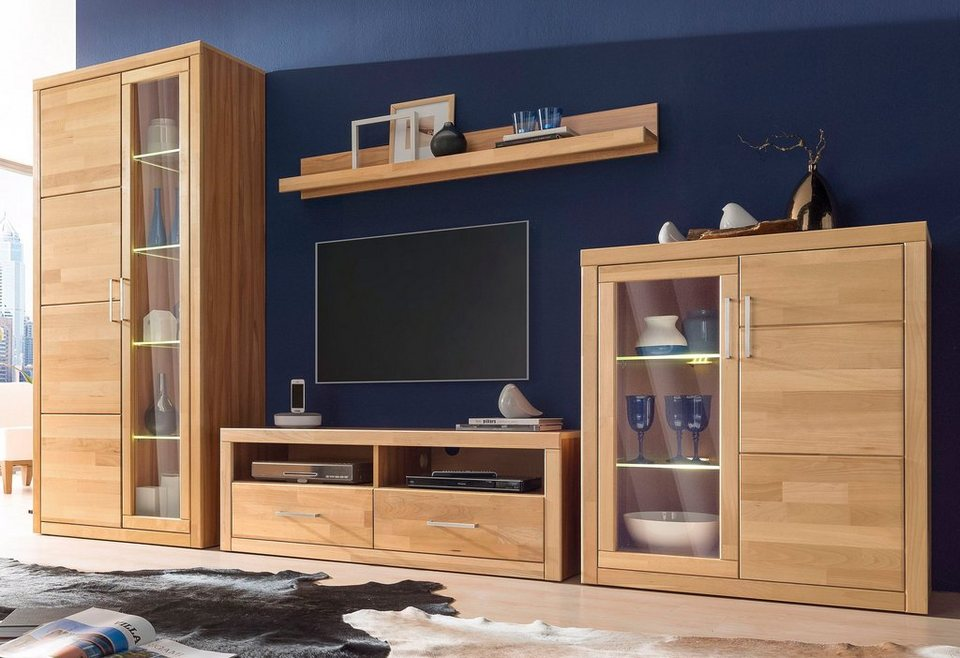 places of style wohnwand 4 tlg online kaufen otto. Black Bedroom Furniture Sets. Home Design Ideas