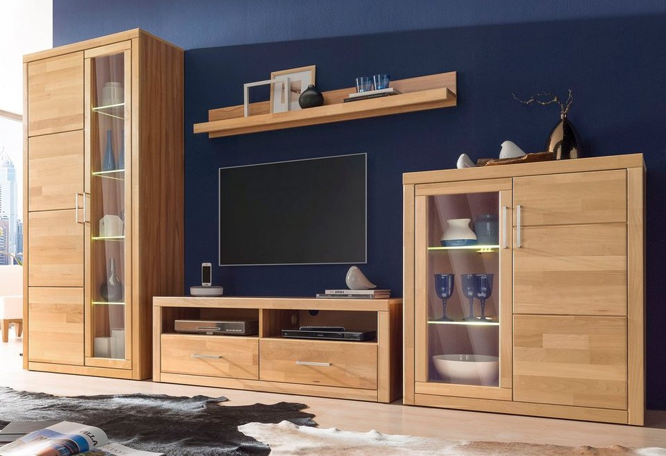 roomed wohnwand 4 tlg online kaufen otto. Black Bedroom Furniture Sets. Home Design Ideas