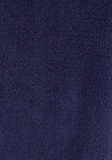 Petite Fleur Blauer Morgenmantel mit Schalkragen