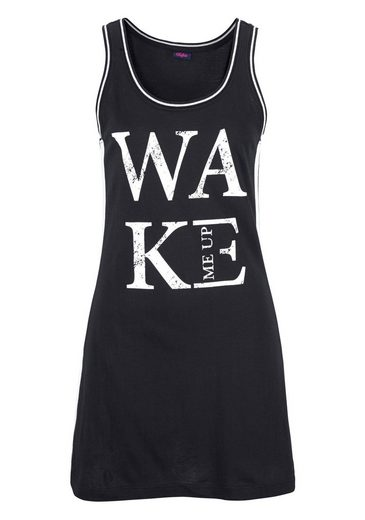 Buffalo Nightgown In Casual Tanktopoptik With Front Print