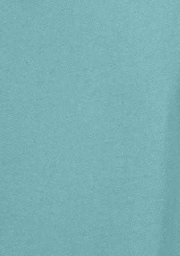 Petite Fleur Basic Kurzarmshirt Paradise mit Brusttasche