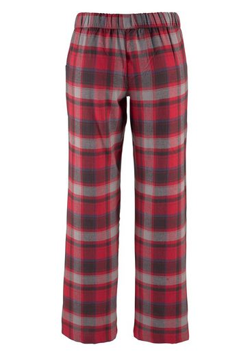 Buffalo Pyjama mit karierter Flanellhose & bedrucktem Shirt