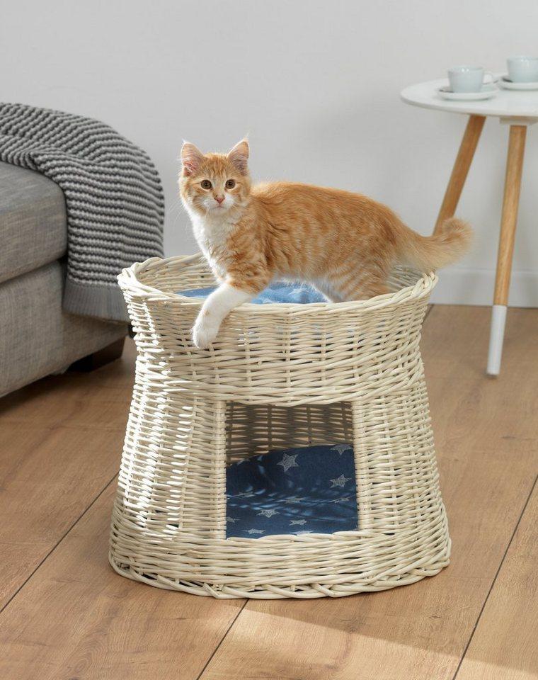 Katzen-Korbturm »Starlett« in weiß/blau