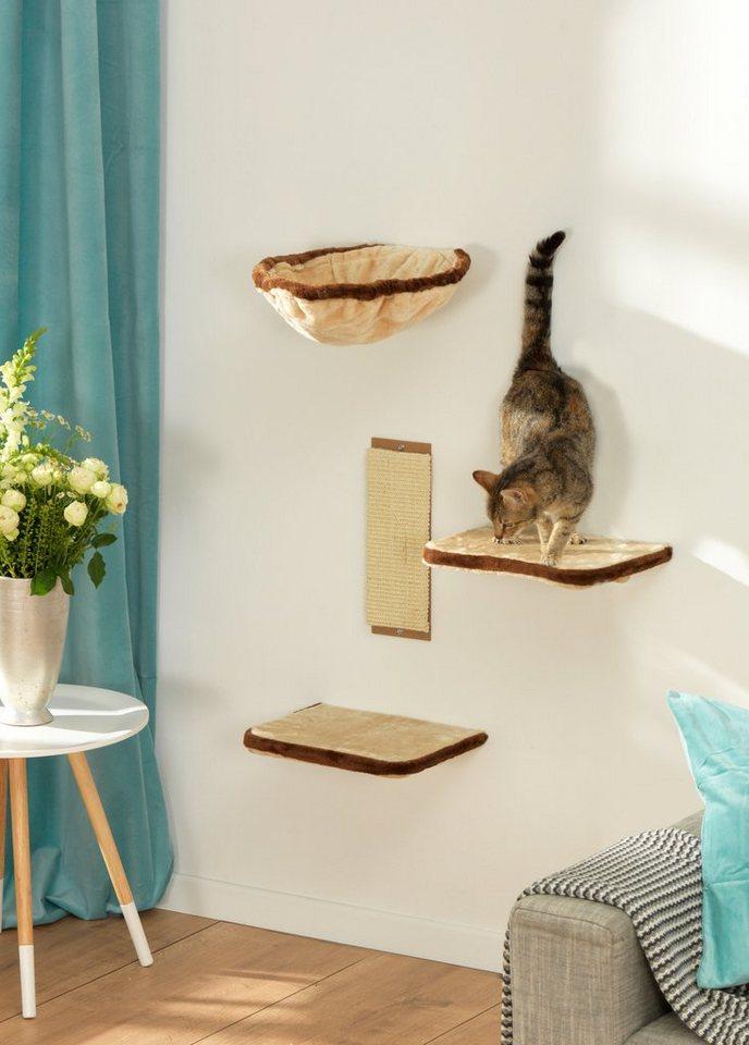 Kletterwand »Katzen« in beige/braun