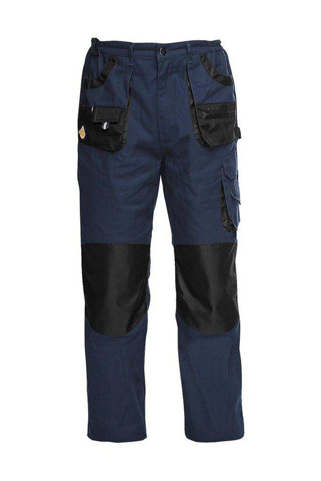 Arbeitshose »Workwear« in blau/schwarz