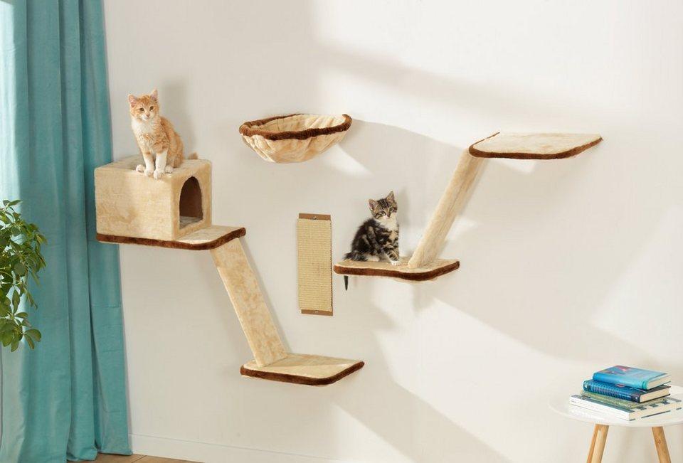 Silvio Design Katzen-Kletterwand »8-tlg. « in beige/braun