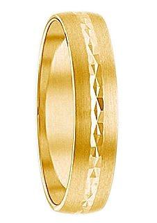 Herren Firetti Trauring mit Gravur Seidenmatt Diamantschnitt Made in Germany gold | 04007972089862