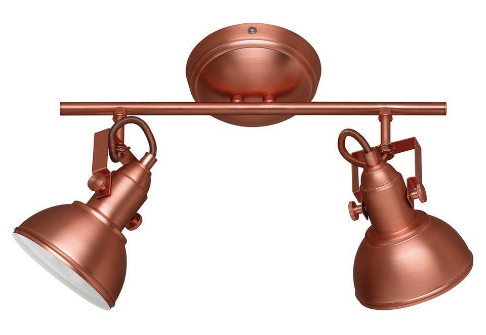 Trio Deckenleuchte, 2 flammig, ohne Leuchtmittel in Metall, kupferfarbig
