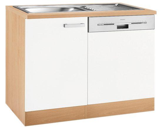 OPTIFIT Spülenschrank »Odense« Gesamtbreite 110 cm, mit Tür/Sockel für teilintegrierbaren Geschirrspüler