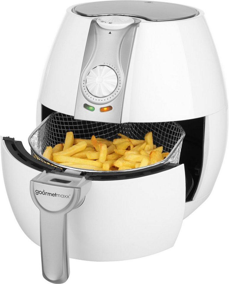 gourmetmaxx Heißluft-Fritteuse, 8in1, 1500 Watt, 2,3 L in weiß