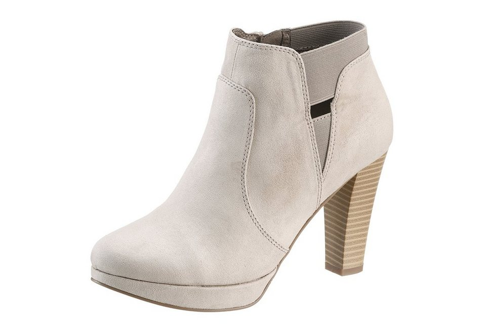 s.Oliver High Heel Stiefelette in natur
